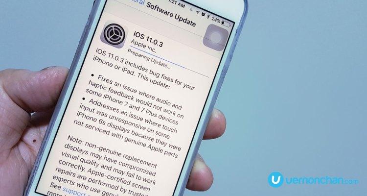 Apple iOS 11.0.3 update