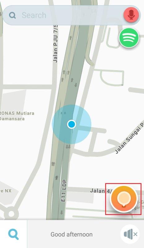 Waze report potholes
