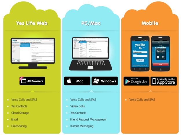YesLife platforms