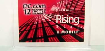 U Mobile Wins Rising Star Award @ PC.com's 12th Annual Readers Choice Awards