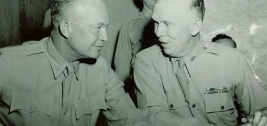 GENs Marshall and Eisenhower