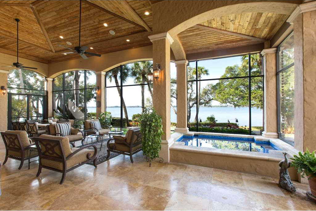 Merritt Island Ultra Luxury Estate - Brevard County Florida on Luxury Backyard Patios id=36541