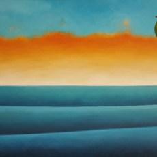 """El Deseo  31x71""""  Acrylic on canvas 2015"""