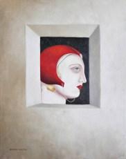 """Homage to Paulo Cohello  """"Il Guerriero Della Luce"""" 20x16"""" Oil on canvas 2006"""