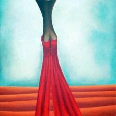"""L'Albero dei Peccati #1  24x12"""" Acrylic on canvas, 2005  SOLD"""