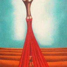"""L'albero dei peccati #2  36x18"""" Acrylic - Oil on canvas, 2008  SOLD"""