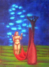 """Untitled 8x6"""" Acrylic on canvas, 2005  SOLD"""