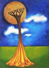 "Golden moon 8x6"" Acrylic on canvas, 2005  SOLD"