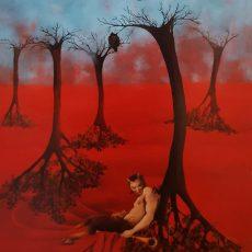 "Il Satiro Allegro 48x36"" Acrylic on canvas, 1999  SOLD"