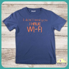 embroidered t-shirt orange kids gift teenager technology