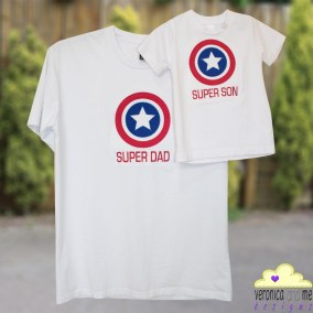 Super Dad and Super Son Embroidered and Appliquéd Shirts