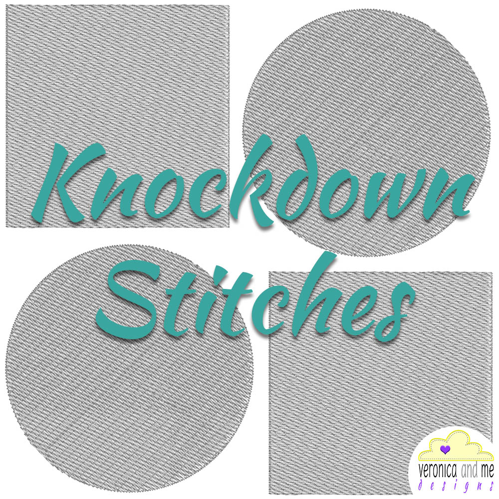 Knockdown Stitches - Embroidery Digitizing | Embroidery