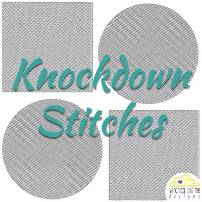 knockdown stitches to hold fabric pile down
