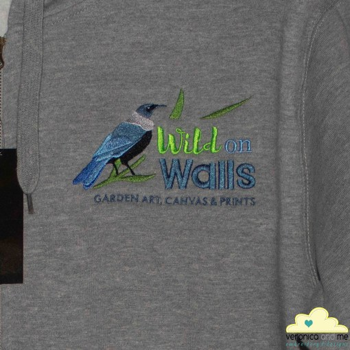Wild on Walls Embroidered Hoodie