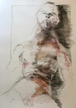 lifedrawing 4021 mixed media on cartridge 80 x 60 cm $495 unframed