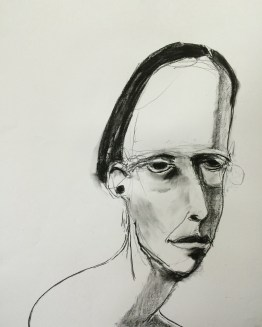 lifedrawing 0415 charcoal and conte on paper 80 x 60 $495 unframed