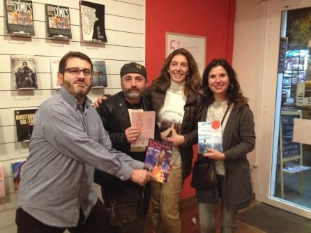 Tony Jim, Jordi Hortelano, Verónica Fabra y Esther Alicia Paz