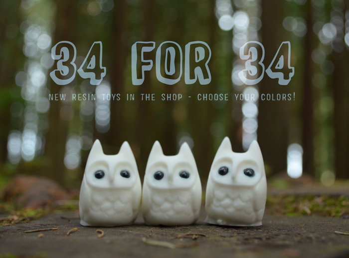 34 for 34 Resin Toy Sale