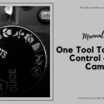 Ad image for Manual Mode showing a camera dial with an M