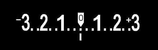 Graphic of an in-camera exposure meter