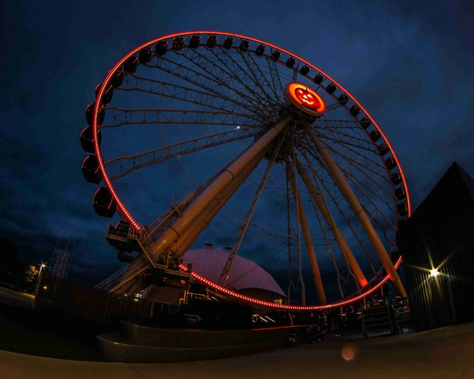 Night Time Photography Showing a Carousel on Chicago's Navy Pier