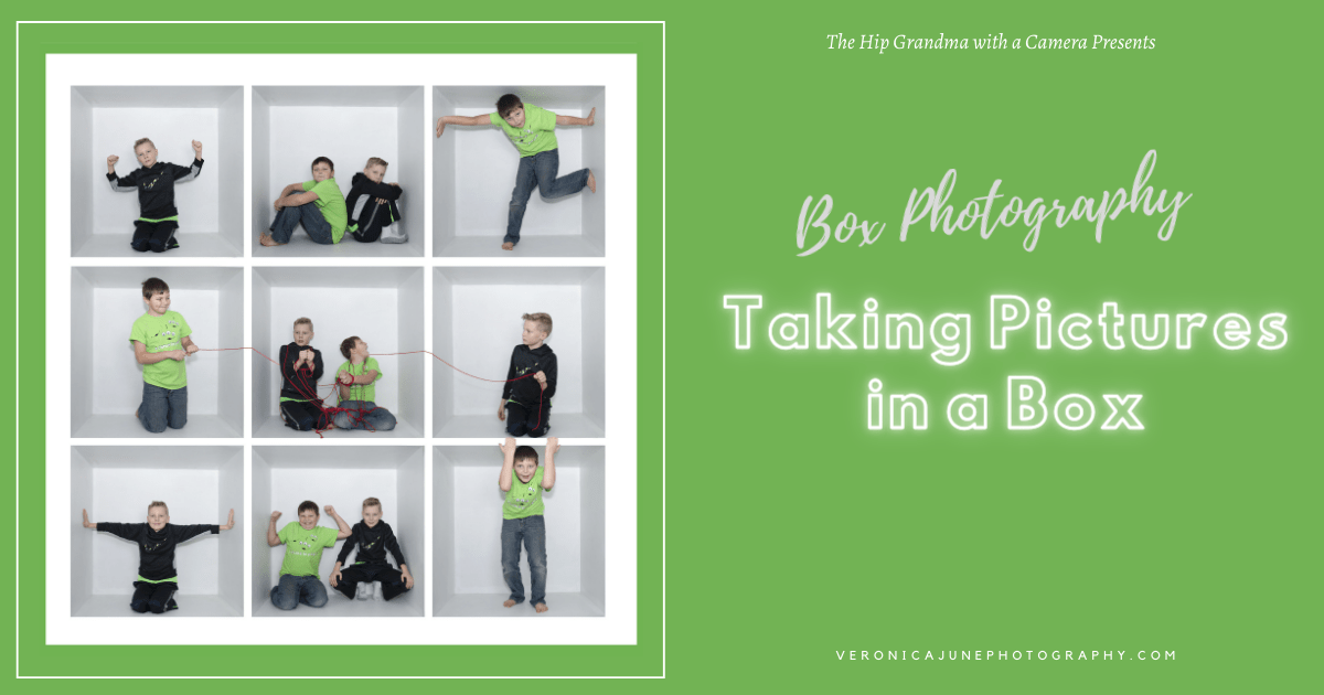 AD image for box photography showing pictures in a box with boys playing