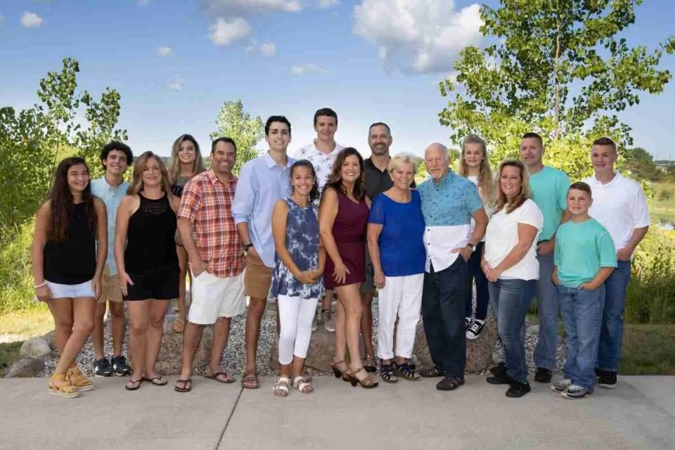 Large group family photo