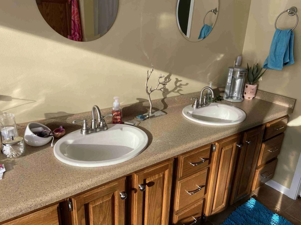 Picture of master bathroom counter