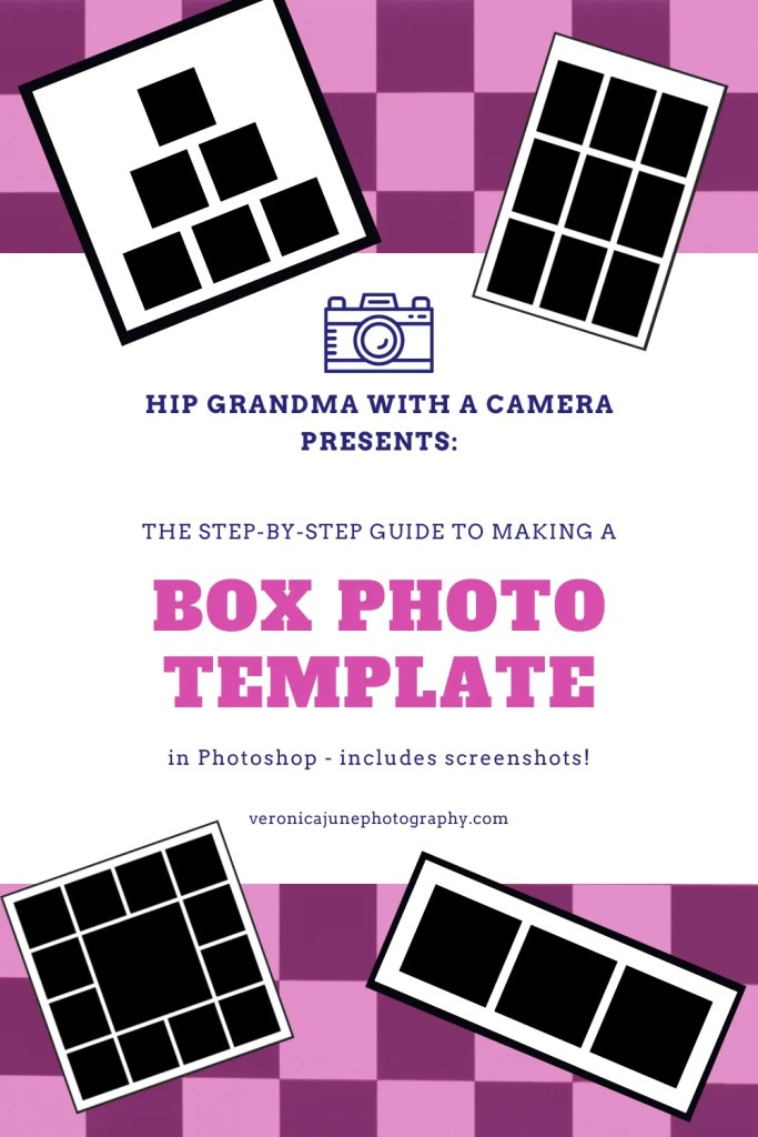 PIN image showing title for how to make a box photo template