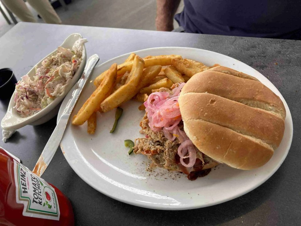 Pulled Pork Sandwich at Doc Ford's Rum Bar & Grill in St Pete Fl
