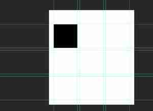 Photoshop screenshot of first hole cut out of template