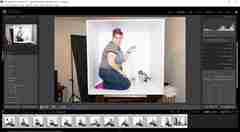 """Lightroom Screenshot showing before how to """"square"""" a box photo image"""