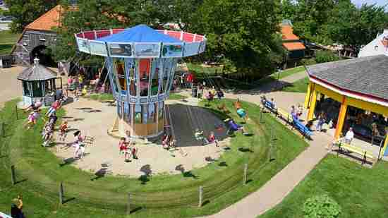 Air view of Dutch Village - kid's party in Holland Michigan