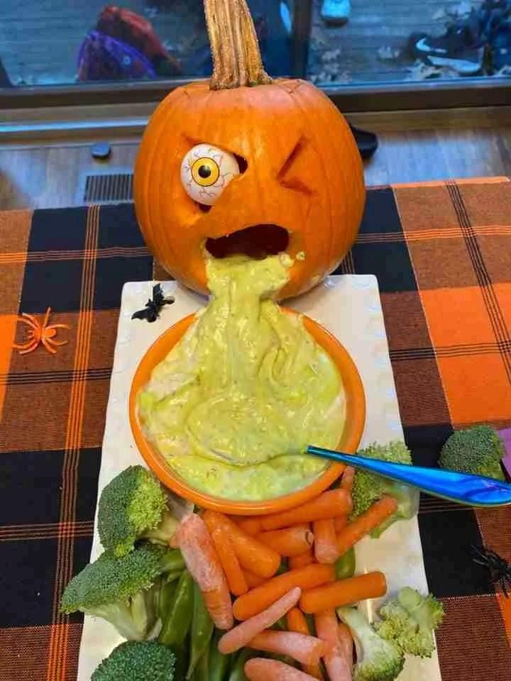 Halloween Food Idea - Puking Pumpkin