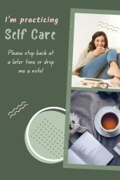 self care sunday poster stating that user is unavailable