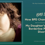 AD image of a moody portrait of a young woman and the title about parenting a child with borderline personality disorder
