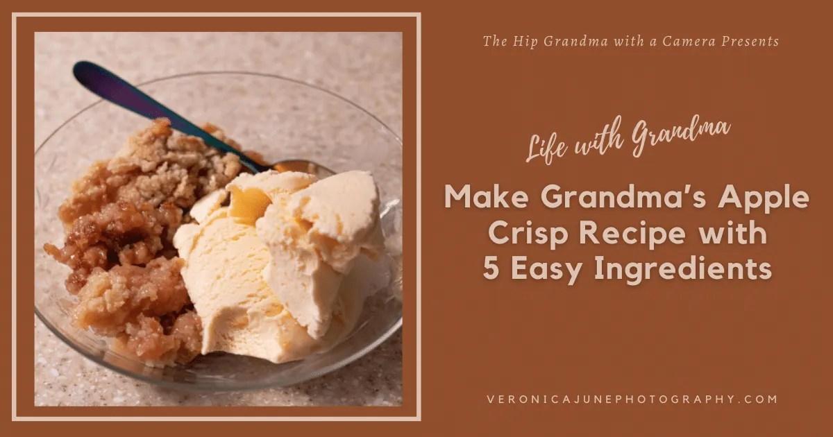 AD image for grandma's apple crisp recipe