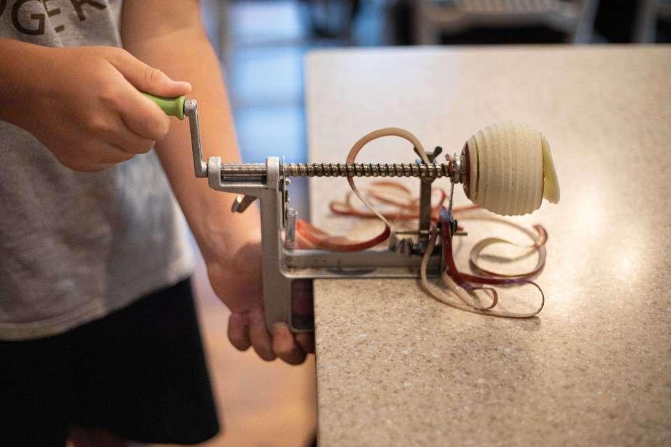 apple corer peeler slicer used in grandma's apple crisp