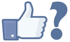 FB like button and question mark