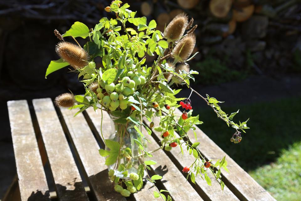 late summer wild flower bouquet