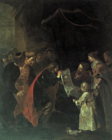 oraziodeferrari_Anania presenta al Re Abagaro infermo il Volto Santo di Gesù
