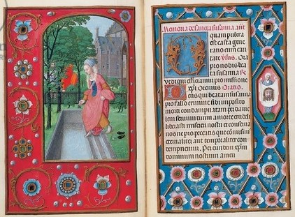 Folios from the Rothschild Book of Hours, Ghent or Bruges, c.1505 (tempera on vellum) (see also 494950-62, 494970-83 and 490416)