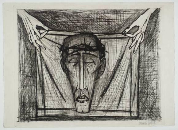 Holy Face 1953 by Bernard Buffet 1928-1999