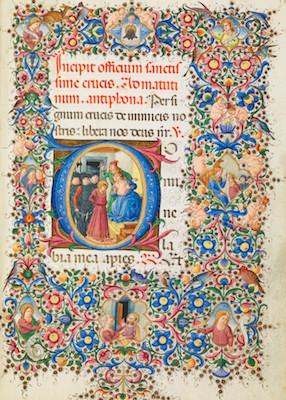 Libro d'Ore, fol. 133r, Firenze