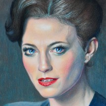 Lara Pulver from Sherlock Holmes by veronica winters colored pencil