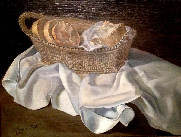 dali artwork basket of bread