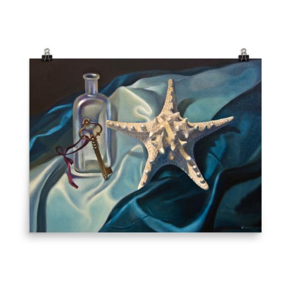 realistic painting of starfish