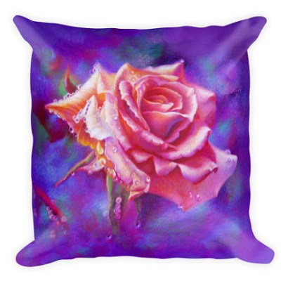 unique gifts pink rose colored pencil custom pillow