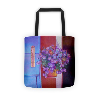 Tote bags for teachers: Purple Flowers