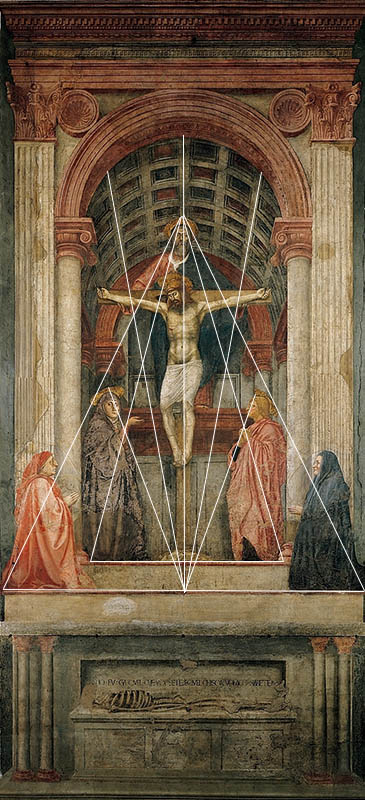 Masaccio_ the holy trinity perspective